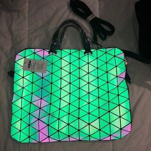 Holographic work satchel/ everyday bag